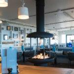 Hemingway's Beach Restaurant in Bergen aan Zee openhaard geplaatst