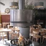 Openhaard restaurant de Machinist Rotterdam