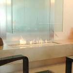 Moderne design openhaard van glas (glazenhaard)